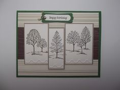 Birthday Trees - Stampin with Christine: Masculine Cards - New Class! - Stampin' Up