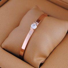 Cartier Rose Gold Single Diamond Bracelet