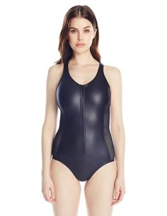 Pin for Later: The Best One-Piece Suits You Can Buy on Amazon  Hurley City Sleek Zip One Piece Swimsuit ($80)