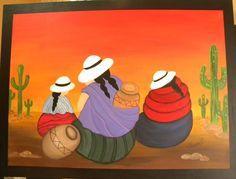 PINTURAS COYAS - Buscar con Google Mexican Paintings, Peruvian Art, Southwestern Art, Arte Popular, Mexican Folk Art, Painting Lessons, Tole Painting, Graphic Patterns, Art Girl