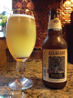 White by Allagash Brewing Company; Portland, ME. BEST for the summer but still sold year round!!! #summerdrink #visitportland #bestbeer