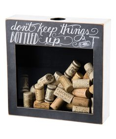 Love this 'Bottled Up' Cork Holder by Primitives by Kathy on #zulily! #zulilyfinds
