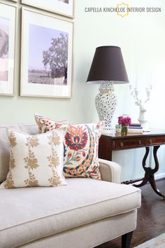 KOL Living Room by Capella Kincheloe - very pretty neo-traditional design
