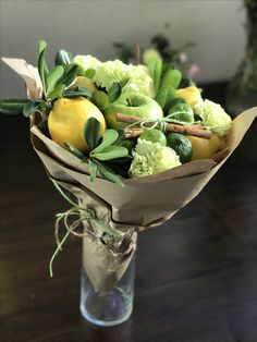 Amazing apples-lemons Bouquet #fruitbouquet