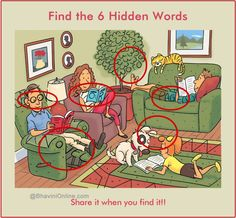 Find 6 hidden words in the picture 7 Answer Hidden Words In Pictures, Word Pictures, Picture Puzzles, Word Puzzles, Reto Mental, Riddle Games, Riddles With Answers, Brain Teasers, Weird World