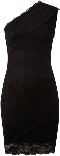 One Shoulder Lace Dress |stilettomag.com