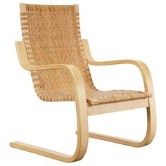 Rare Alvar Aalto Cantilevered Armchair, Circa 1970 | From a unique collection of antique and modern armchairs at http://www.1stdibs.com/furniture/seating/armchairs/