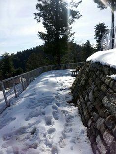 Barrian near muree Pakistan in snowfall