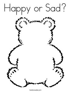 Happy or Sad Coloring Page Customize your coloring page to fit your theme at this site!
