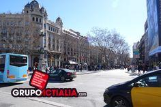 Les Rambles, Barcelona. Grup Actialia ofrece sus servicios en Barcelona: Diseño web, Diseño gráfico, Imprenta y Rotulación. www.grupoactialia.com