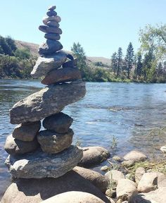 """""""Wishing for my sisters father's health recovering from spinal cancer surgery.."""" - Daniel  #wishmade #cairn #rockbalancing #rockstacking #cairn_collection"""