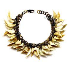 QueCraft Horn Chain Necklace - Q12420