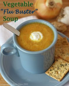 Vegetable Flu Buster Soup | cupcakesandkalechips.com | #vegetarian #vegan #glutenfree