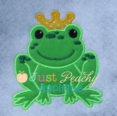 Frog Prince Applique Design