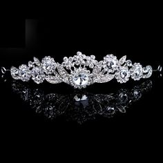 Beauitful Alloy with Zircons and Rhinestiones Bridal Tiara