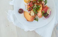 Tomato Peach Salad for Summer