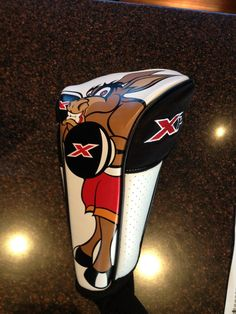 """Callaway Golf made a special """"battling donkey"""" headcover for long bomber Luke List at the Waste Management Phoenix Open. The X's represent Callaway's new X Hot drivers."""