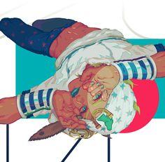 "Original art by asaka ""The permission for reprinting this picture has been granted by the original artist. Jojo Parts, Jojo Memes, Animation, Jojo Bizarre, Bizarre Art, Jojo Bizzare Adventure, Anime Art, Fan Art, Manga"