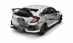 2017 Honda Civic Type R Turbo Detailed Engine, Suspension, Frame Review of Specs / Development / R&D - Hatchback CTR FK8