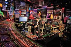 Jack Joseph Puig with the Focusrite Forte Console and mountains of outboard in Ocean Way Studio A.