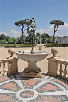 Piazzale and the loggia of the Villa Medici (Rome)