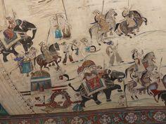 Mural, Bundi Palace, Rajasthan