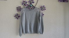 grey  Women's Summer  Jumper  Lace back/front   size  10  #Atmosphere #Jumpers