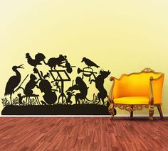 The Animal Band - Silhouette of Frolicking Animals.  via Etsy.