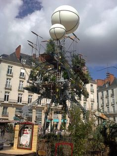 The Flying Greenhouse, said to be powered by the energy of the plants it gathers from around the world.