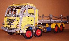 Meccano model of 8 wheel Foden