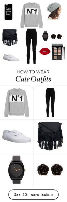 """""""Cute outfit"""" by stuff4m on Polyvore featuring Être Cécile, Vans, Balmain, Sole Society, Erica Lyons, Lime Crime and Bobbi Brown Cosmetics"""