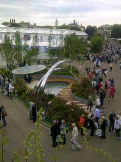 Stoke's garden from the #RHSChelsea studio  @MrStevenMoore