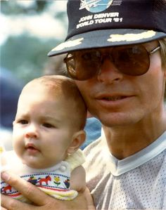 John Denver with his son