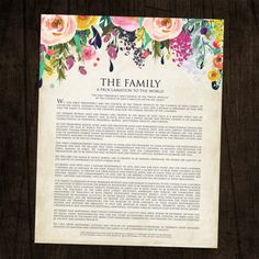 The Family A Proclamation to the World by designink on Etsy