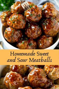 Homemade Sweet and Sour Meatballs Homemade Sweet and Sour MeatballsYou can find Meatballs recipe and more on our webs. Beef Tip Recipes, Shredded Beef Recipes, Stew Meat Recipes, Bacon Recipes, Ground Beef Recipes, Cooking Recipes, Homemade Meatball Recipes, Cat Recipes, Turkey Recipes