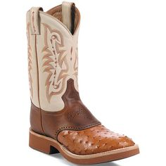 8880 Tony Lama Men's Ostrich Cowboy Western Boots - Oats