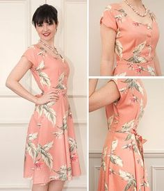 Doris Dress - so many techniques you can learn in this class! Buttonholes, zips, a tie back, panelled skirt, grown-on cap sleeves and lots more!