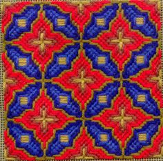 Cathy's Four-Way Bargello Patterns Page  this reminds me of Pugin with more vibrant colors