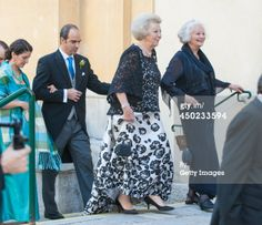 VIENNA, AUSTRIA - JUNE 07: Princess Beatrix of The Netherlands attends Juan Zorreguieta and Andrea Wolf's wedding at palais Liechtenstein on June 7, 2014 in Vienna, Austria. (Photo by Getty Images)
