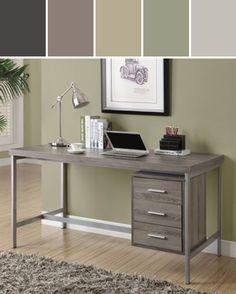 Monarch Specialties I 7245 Office Desk, Natural Reclaimed Designed By ATGStores.com a Lowe's Company via Stylyze