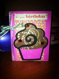 Cricut alphabet cartridge for little girl's birthday card