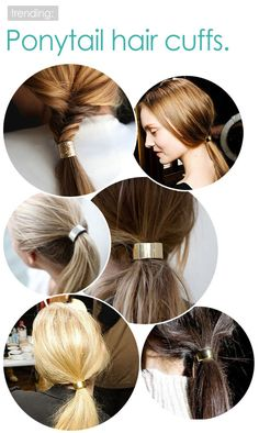 Ponytail hair cuffs. Hair Accessories. Hairstyles | Kenra Professional Inspiration