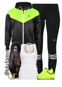 """""""Untitled #1625"""" by lulu-foreva ❤ liked on Polyvore featuring adidas, NIKE and American Eagle Outfitters"""