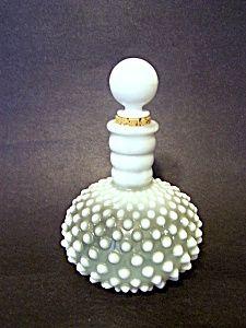 Moonstone Hobnail Opalescent Bottle
