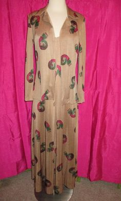 55796f0676c 60s 70s DIANE VON FURSTENBERG Made in Italy dress w  matching jacket VINTAGE  VTG