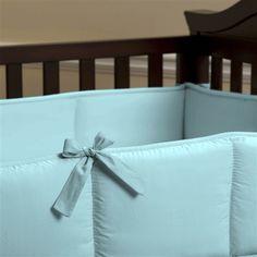 Solid Aqua Crib Bumper $62