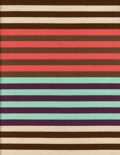 Sina Pearson Textiles | St. Tropez in Melon/Plum/Turquoise