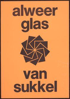 Titel:Alweer glas van Sukkel  Maker:  ontwerper: Collectie NAGO  ontwerper: Bos, Ben  opdrachtgever: Sukkel  Trefwoord:  affiche  Verv.jaar:1968  Techniek:  papier  boekdruk  Object:  affiche  Afmeting:42x60cm