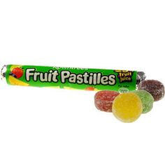 Yummy, fruity, chewy candy I discovered while in England. Favorite Candy, My Favorite Food, Uk Sweets, Retro Sweets, Rowntrees Fruit Pastilles, Penny Sweets, British Sweets, Candy Pictures, Rainbow Ice Cream