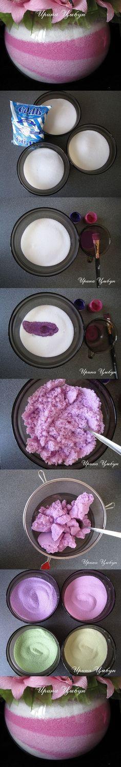 Sable coloré pour vase DIY